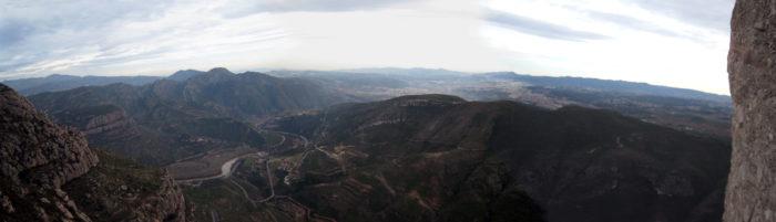 Vista del Llobregat des de la darrera reunió