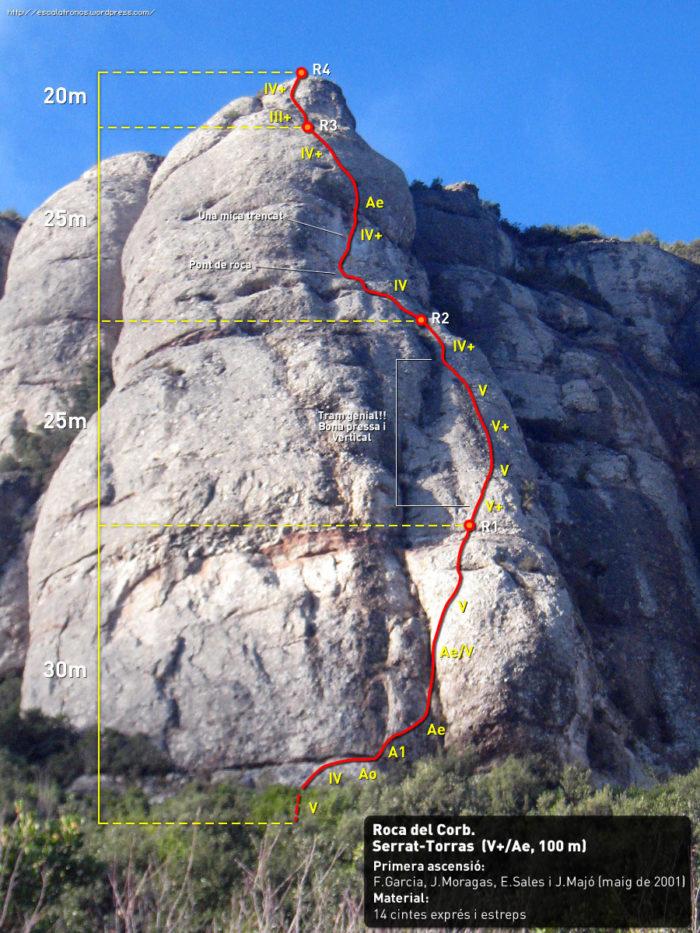Ressenya de la via Serrat-Torras a la Roca del Corb