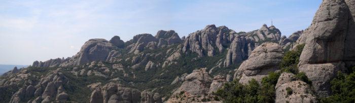 Bones vistes del Ponent Montserratí des del cim de l'agulla