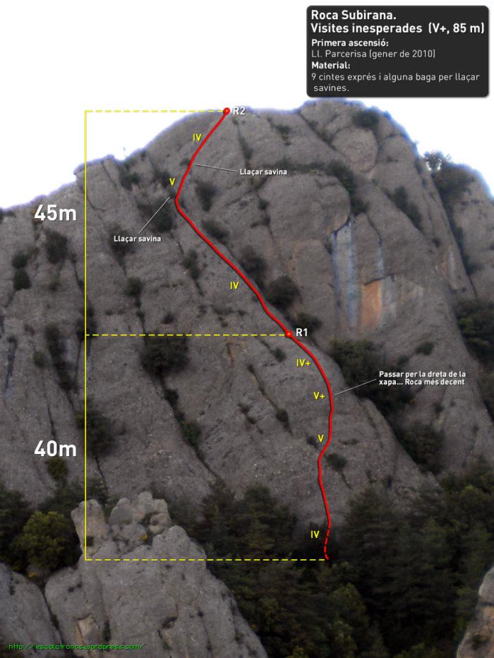 Ressenya de la via Visites Inesperades a la Roca Subirana