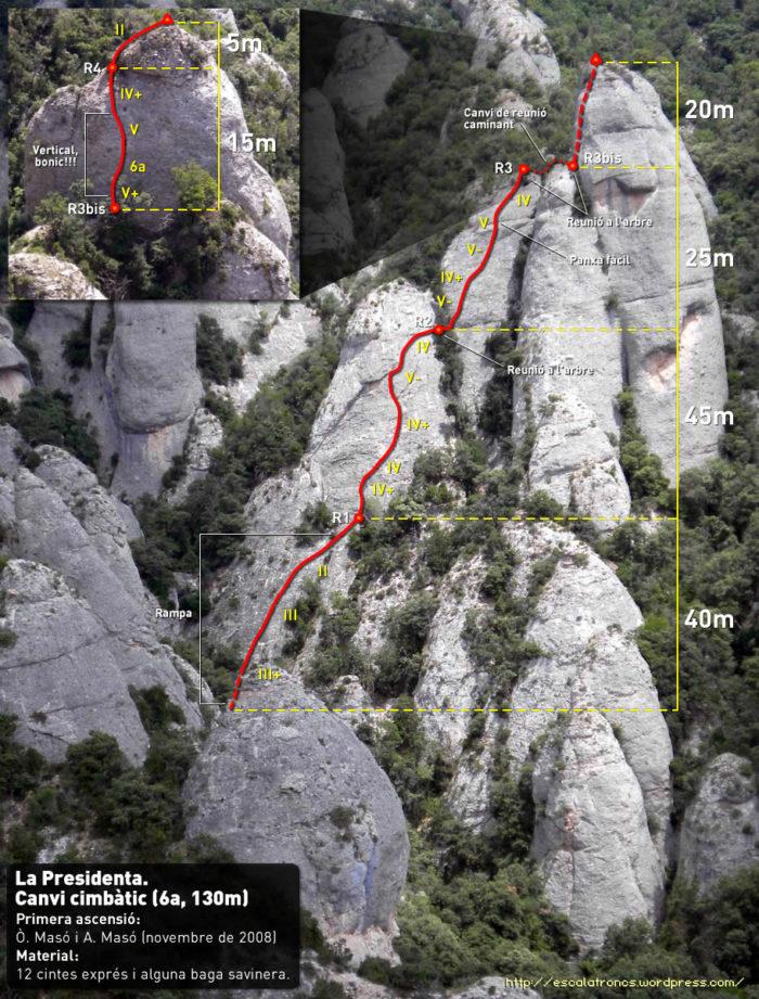 Ressenya de la via Canvi Climbatic
