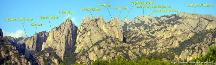Els Pollegons són un dels perfils més característics de Monserrat Sud