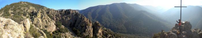 panoràmica des del cim del Roc Ponent
