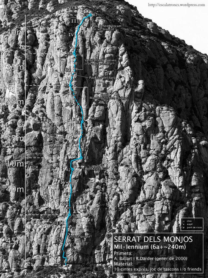 Ressenya de la via Mil·lennium al Serrat dels Monjos