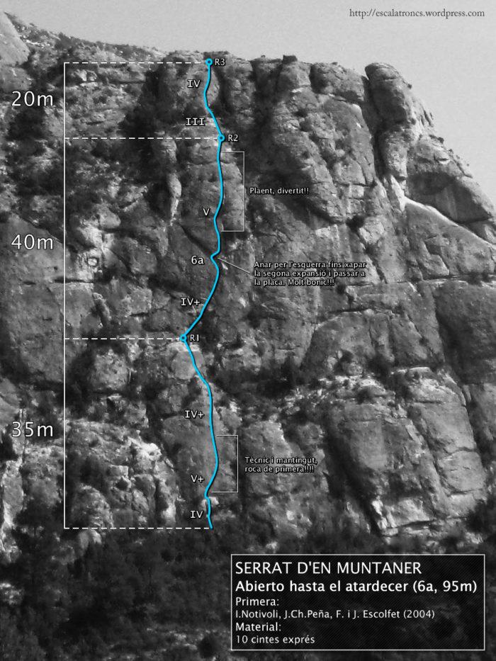 Ressenya de la via Abierto Hasta El Atardecer al Serrat d'en Muntaner