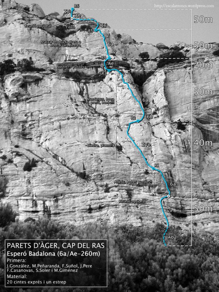 Ressenya de la via Esperó Badalona a Àger