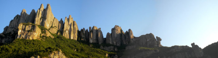 Confluència de Frares i Agulles amb el Portell Estret com a frontera, un dels racons màgics del Serrat