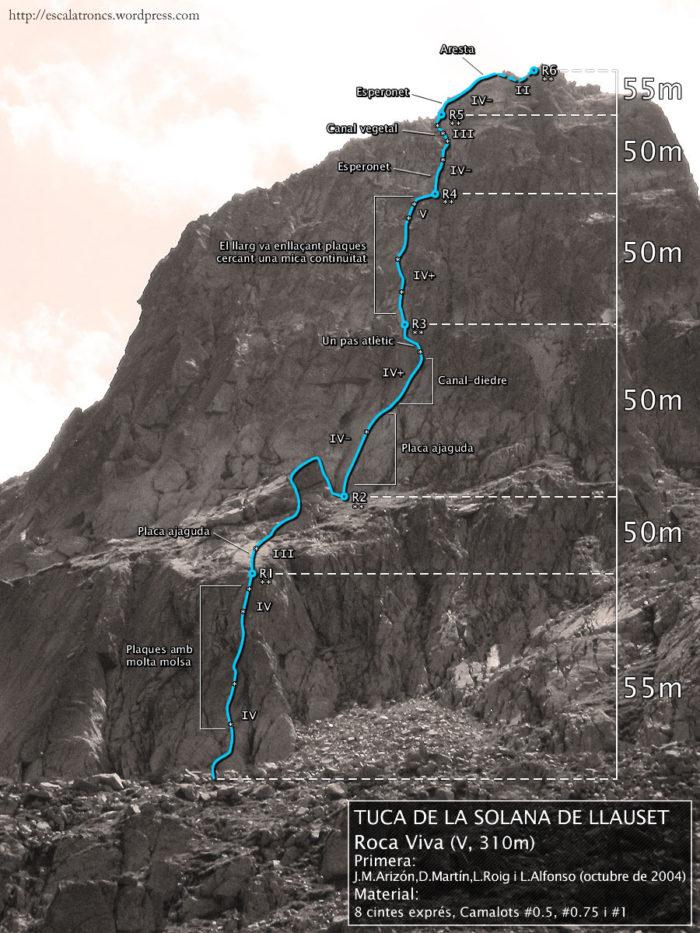 Ressenya de la via Roca Viva a la Tuca de la Solana de Llauset