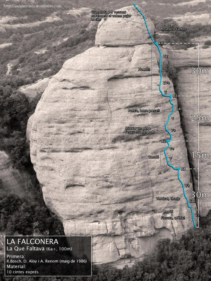 Ressenya de la via La Que Faltava a la Falconera - Sant Llorenç de Munt