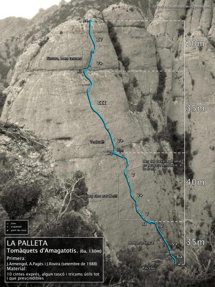 Ressenya de la via Tomàquets d'Amagatotis a La Palleta