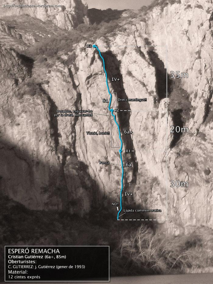 Ressenya de la via Cristian Gutiérrez a l'Esperó Remacha (Sant Llorenç de Montgai)