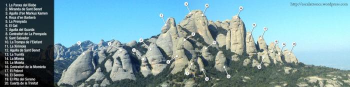 Roques i agulles de Sant Benet