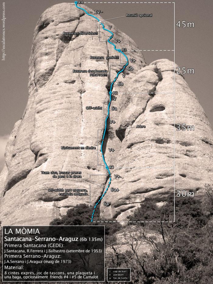 Ressenya de la via Santacana-Serrano-Araguz a La Mòmia