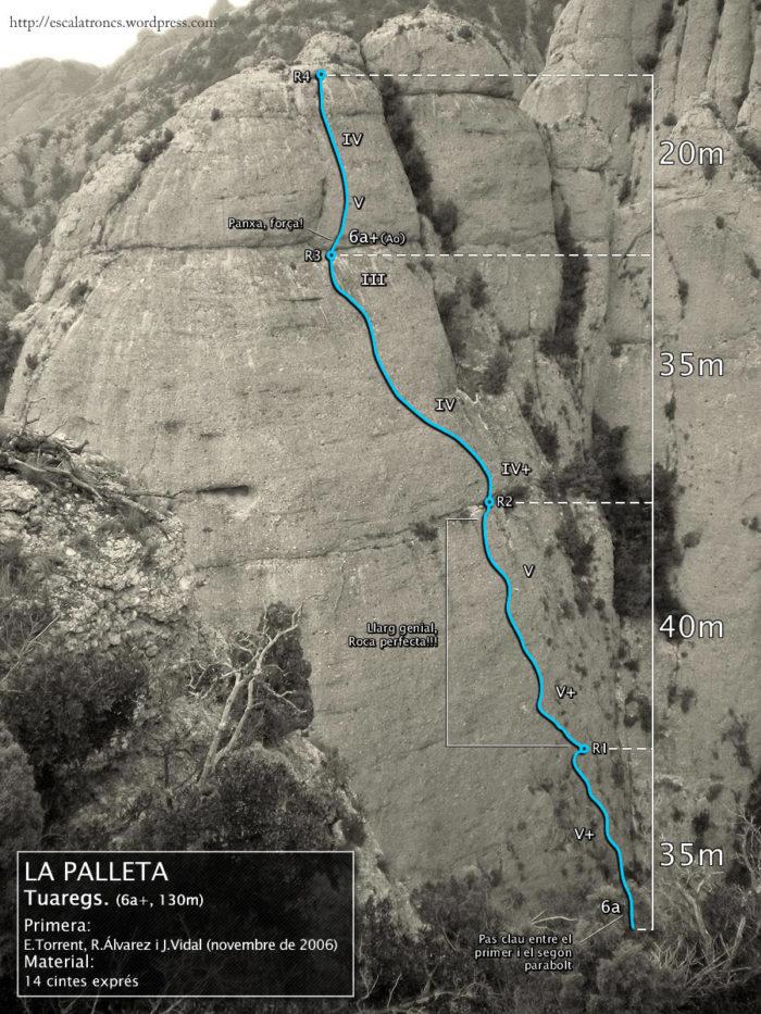 Ressenya de la via Tuaregs a La Palleta