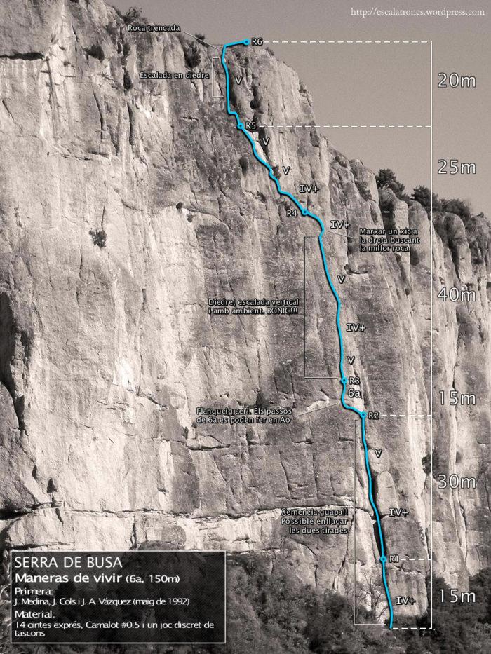 Ressenya de la via Maneras de Vivir a la Serra de Busa