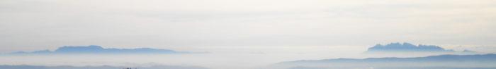 Des de Canalda, Sant Llorenç i Montserrat s'intueixen com illes a la deriva