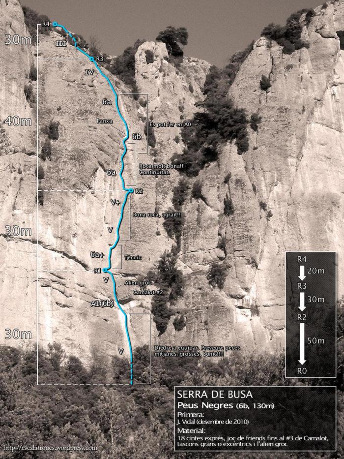 Ressenya de la via Peus Negres a Busa