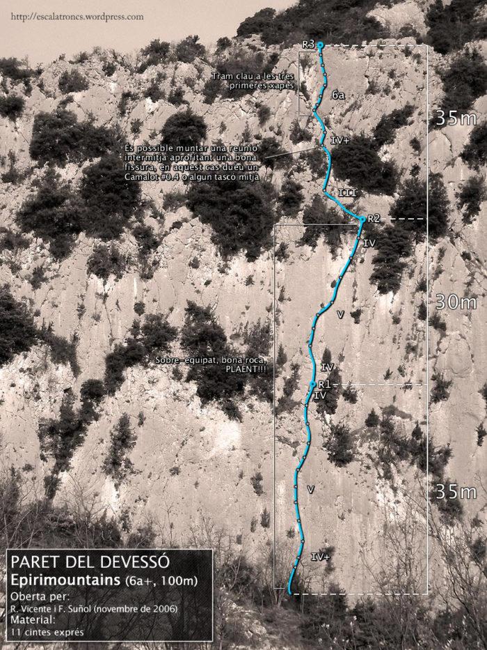 Ressenya de la via Epirimountains a la Paret del Devessó