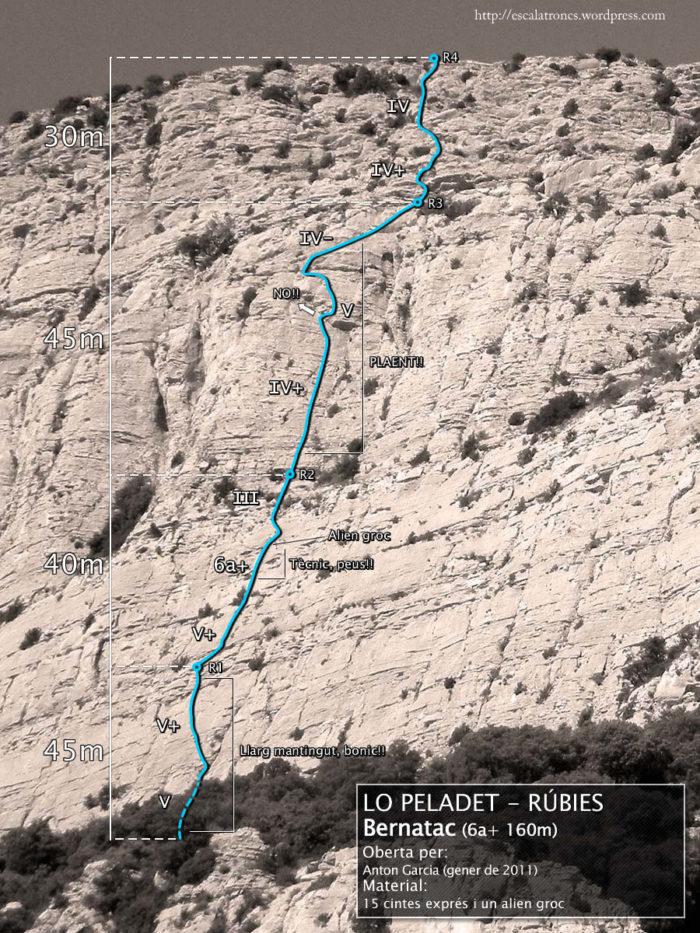 Ressenya de la via Bernatac a Rúbies