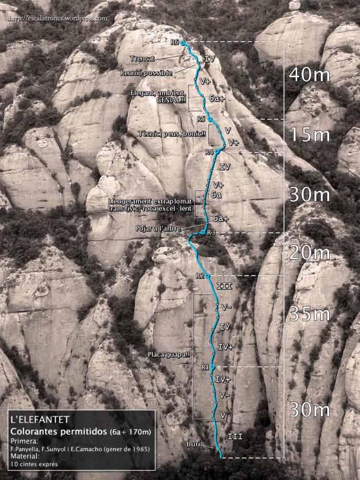 Ressenya de la via Colorantes Permitidos a l'Elefantet (Montserrat)