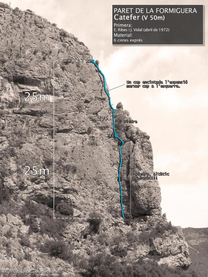Via Catefer a la Paret de la Formiguera (Sant Llorenç de Montgai)