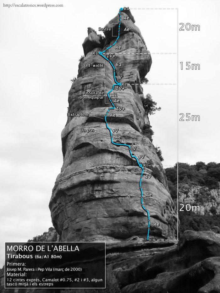 Ressenya de la via Tirabous al Morro de l'Abella (Tavertet)