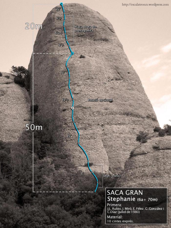 Ressenya de la via Stephanie a la Saca Gran (Agulles - Montserrat)