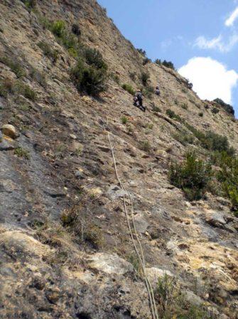 Via del Barbes a la Paret de la Formiguera