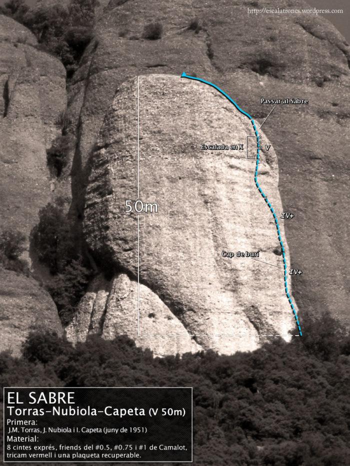 Ressenya de la via Torras-Nubiola-Capeta al Sabre