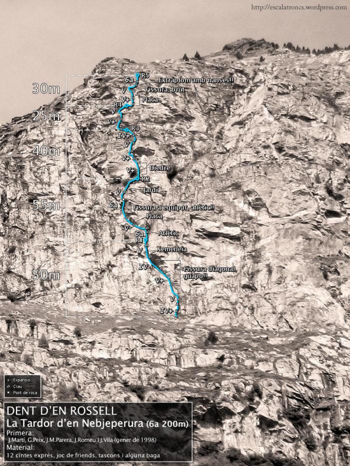 Ressenya de la via La Tardor d'en Nebjeperura