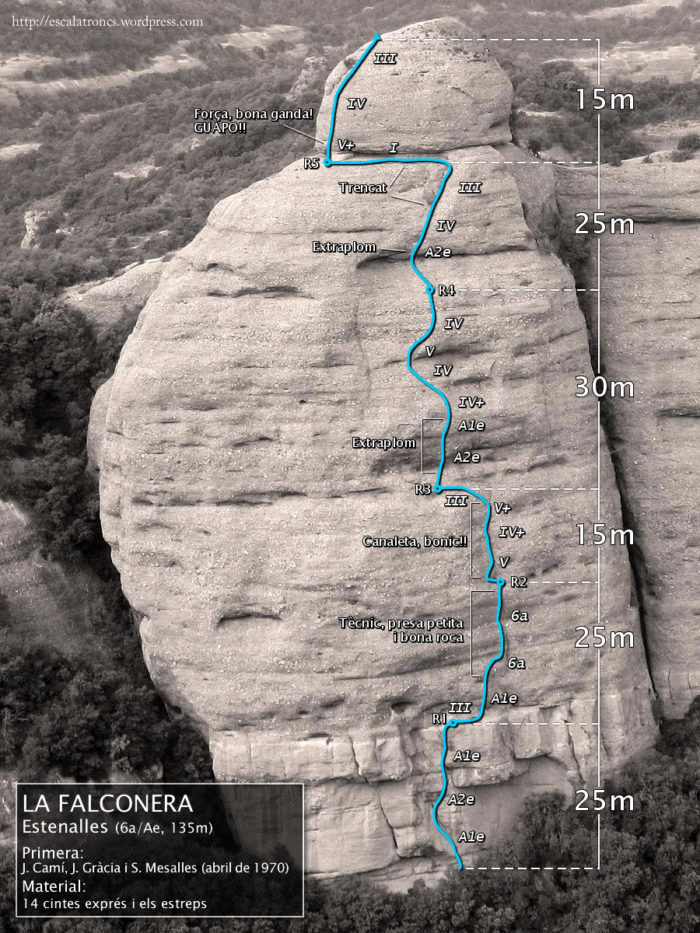 Ressenya de la via Estenalles a la Falconera (Sant Llorenç del Munt)
