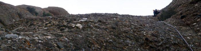 Ombra de tarda i verticalitat al vessant est de la Falconera