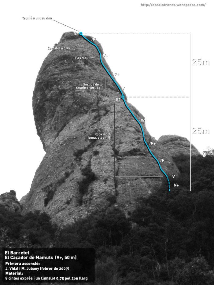 Ressenya de la via Caçador de Mamuts al Barretet