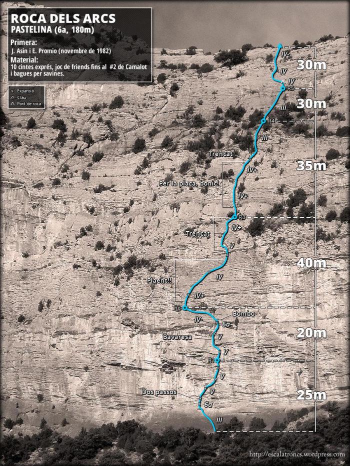 Ressenya de la via Pastelina a la Roca dels Arcs