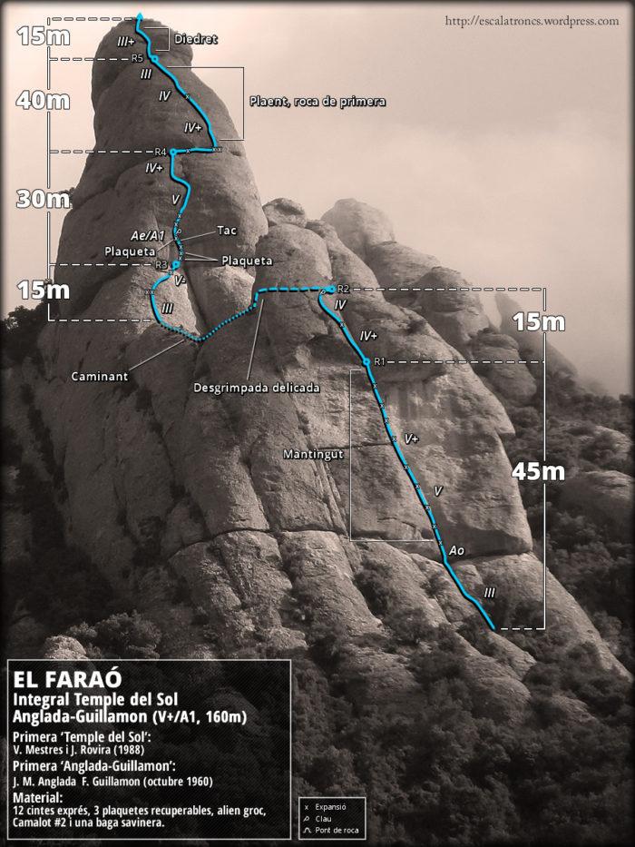 Ressenya de la via Integral Temple del Sol Anglada-Guillamon al Faraó