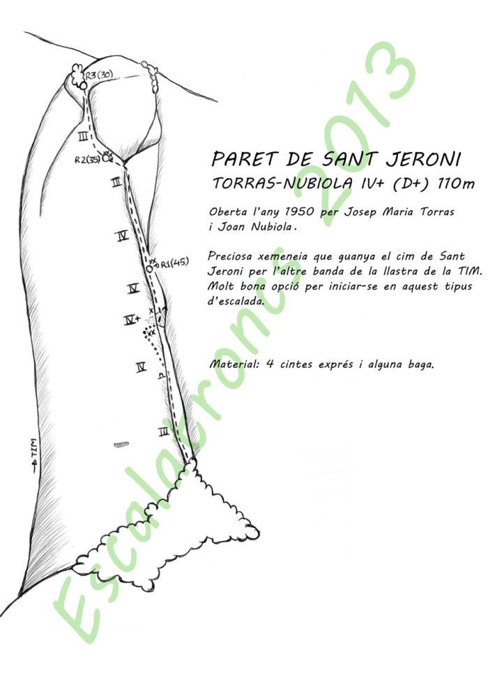 Ressenya de la via Torras-Nubiola a la Paret de Sant Jeroni