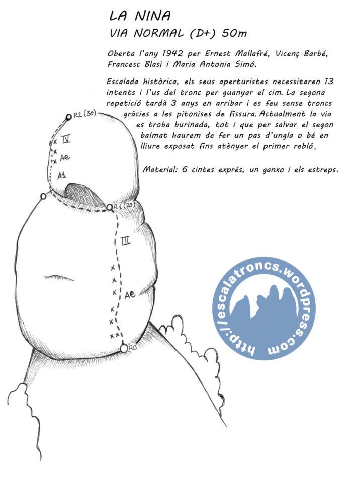 Ressenya de la via Normal de la Nina (Montserrat - Frares Encantats)