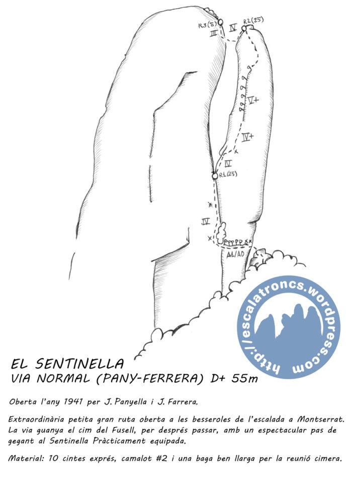 Ressenya de la via Normal al Sentinella (Pany-Ferrera)