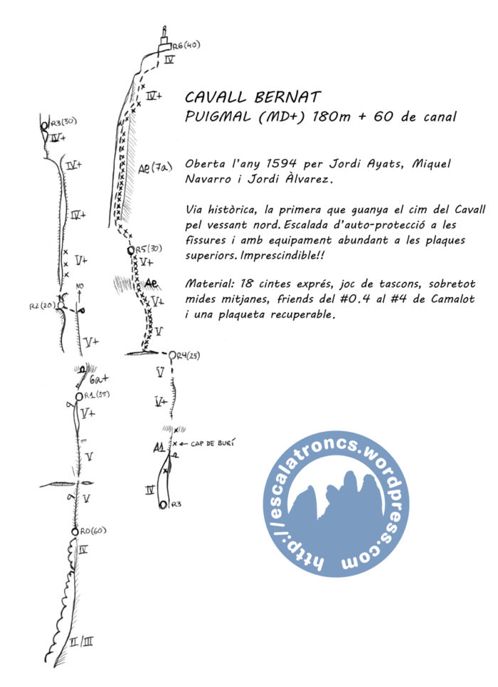 Ressenya de la via Puigmal al Cavall Bernat (Montserrat)