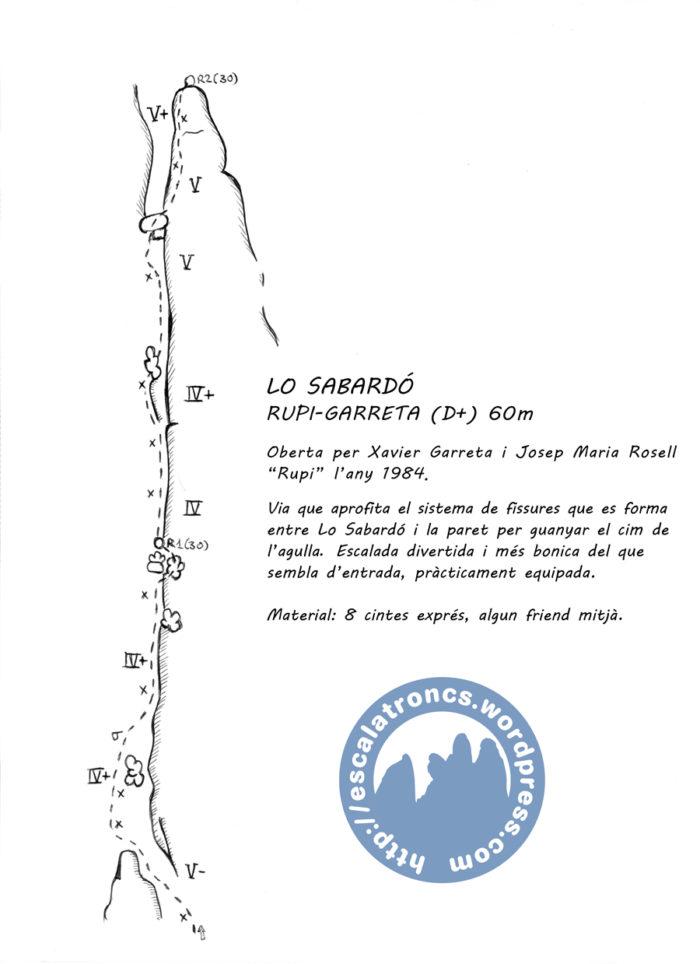Ressenya de la via Rupi-Garreta a Lo Sabardó