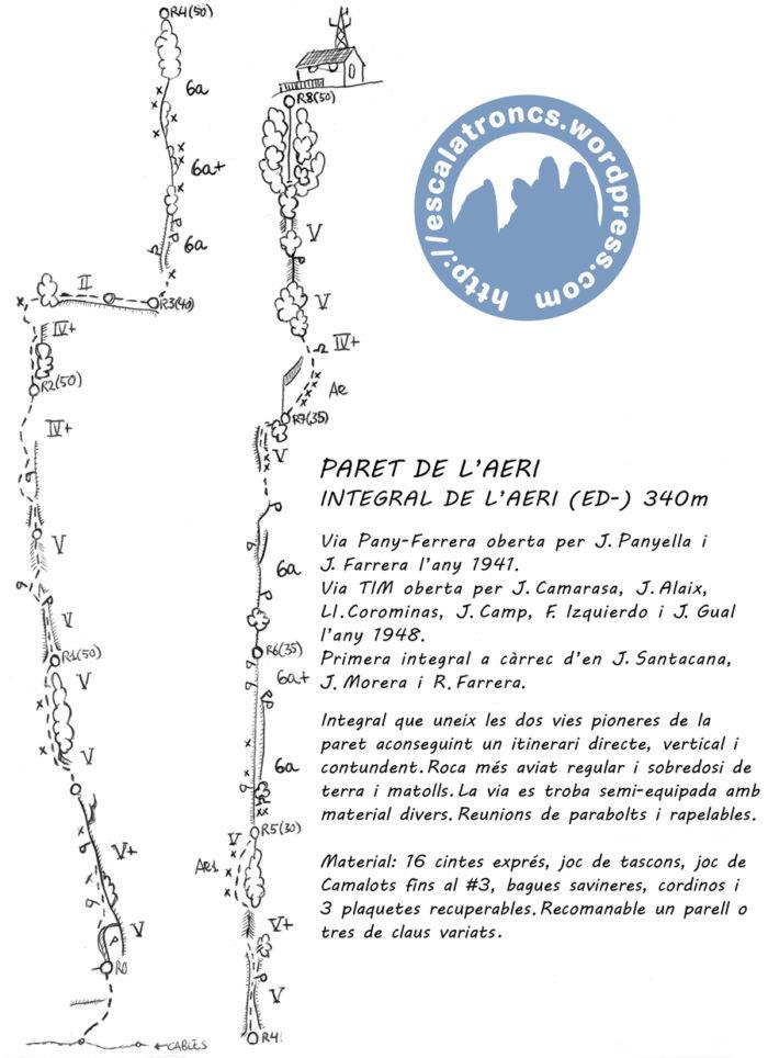 Ressenya de la via Pany-Ferrera-TIM a la Paret de l'Aeri