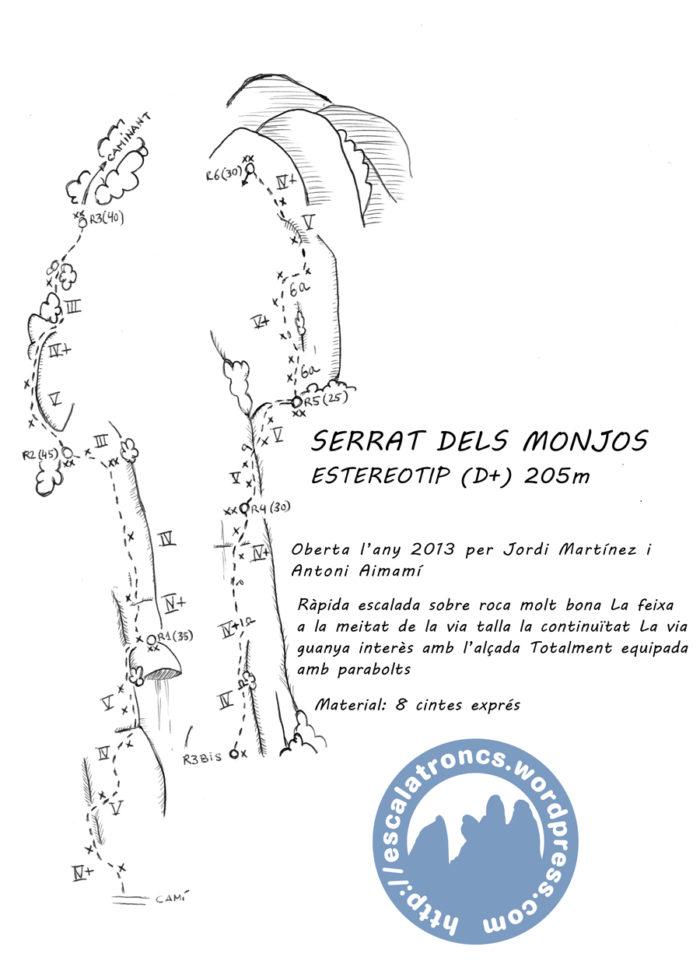Ressenya de la via Estereotip al Serrat dels Monjos