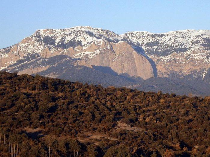 Des de l'altiplà tenim una vista privilegiada sobre la Roca Gran de'n Ferrús