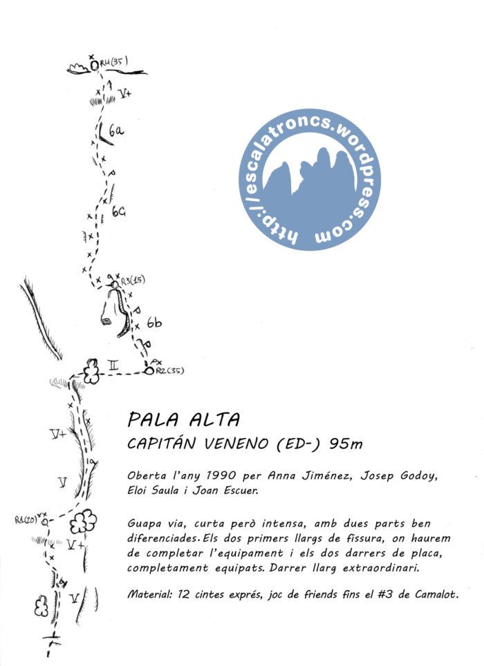 Ressenya de la via Capitán Veneno a la Pala Alta (Montroig)