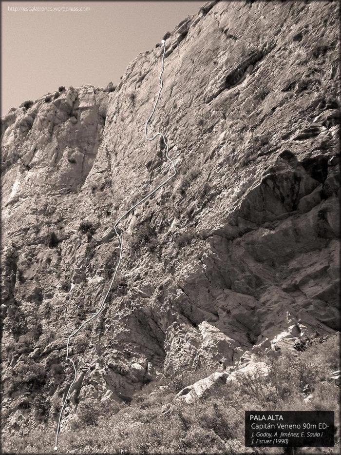 Recorregut de la via Capitán Veneno a la Pala Alta (Montroig)
