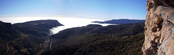 L'inversió tèrmica assegura mar de núvols i temperatures més que agradables
