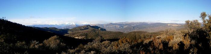 Comiols, Abella de la Conca, Sant Joan... I al fons el Pirineu amb un bon paquet de neu