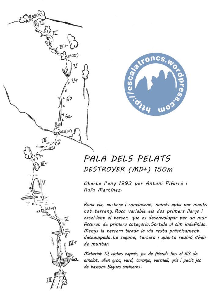 Ressenya de la via Destroyer a la Pala dels Pelats (Montroig)