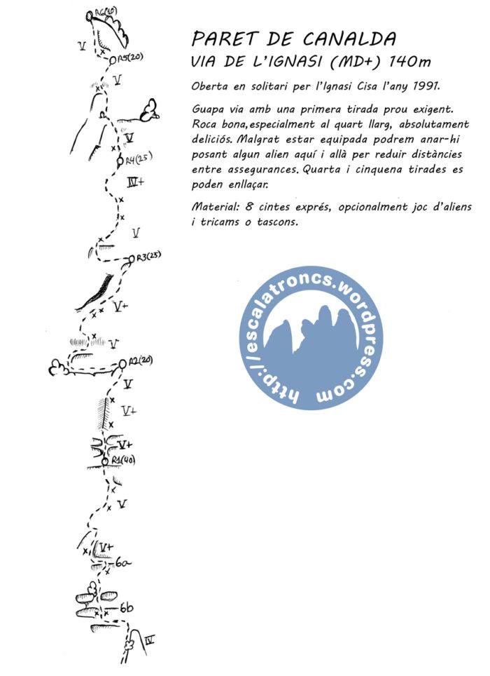 Ressenya de la via de l'Ignasi a la Paret de Canalda