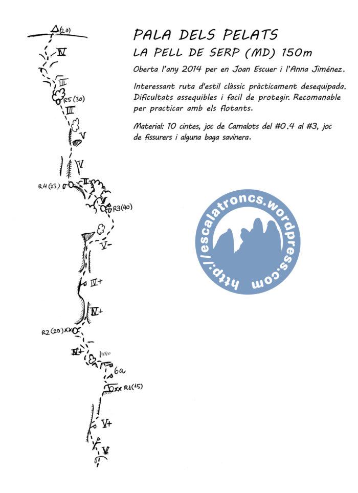 Ressenya de la via La Pell de Serp al Montroig
